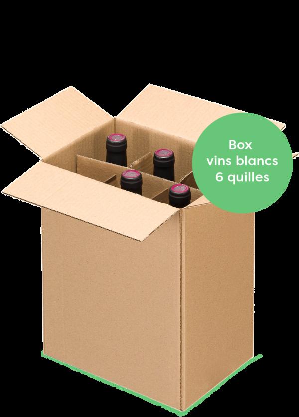boxe découverte 6 bouteilles de vins naturels blancs