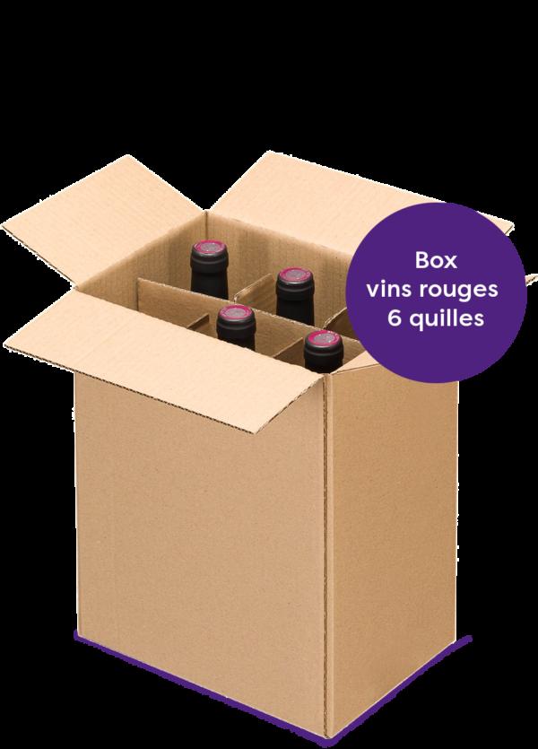 boxe découverte 6 bouteilles de vins naturels rouges
