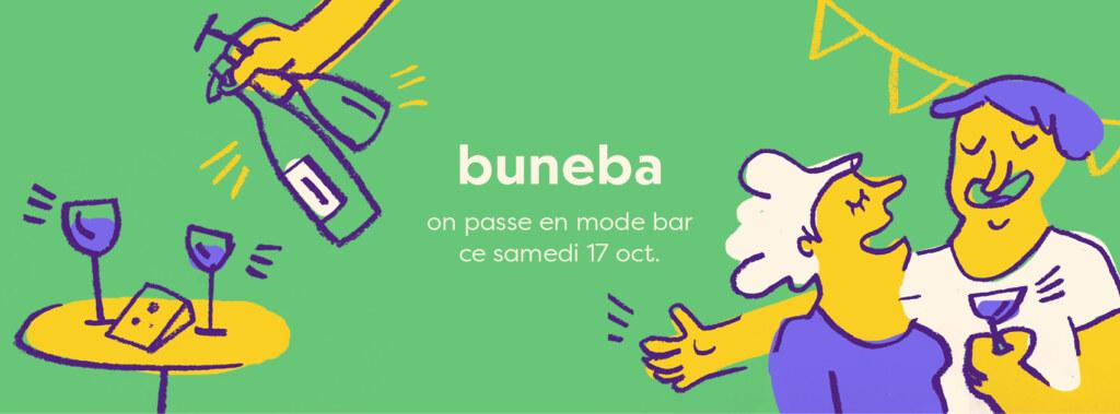 buneba passe en mode bar