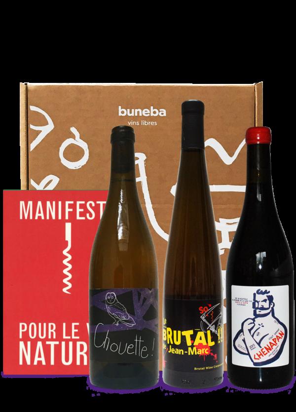 coffret découverte des vins naturels avec manifeste pour le vin nature