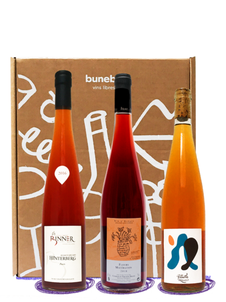 coffret vins oranges - vins naturels