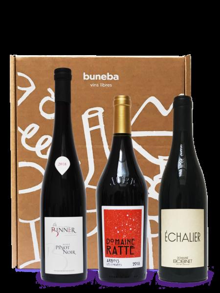 Coffret vins naturels rouges d'exception